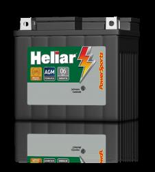 Bateria Moto Heliar Htz6 Cg150 Titan Todas